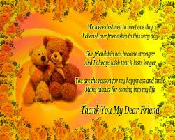 thank you my dear friend free friends ecards greeting cards