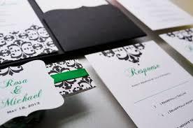 Black Wedding Invitations Wedding Invitation Emerald Green And Black Wedding Invitation