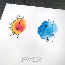 color ink yin yang sun sle