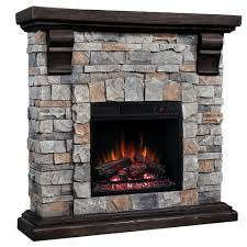 twin star stone wall mantel fireplace with insert by twin star at
