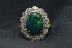 black opal engagement rings los angeles vintage engagement ring lightning ridge black opal