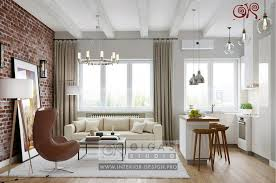 interior design kitchen living room images of apartment interiors photo and 3d visualisations of studio