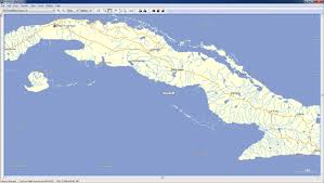 Cuba World Map by Cuba Gps Map For Garmin Gpstravelmaps Com