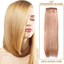 Light Strawberry Blonde Hair Inch 27 Strawberry Blonde Straight Indian Remy Hair Wefts