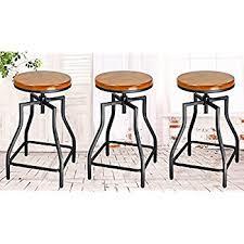 Metal And Wood Bar Stool Amazon Com Ehemco 24 29 U0027 U0027 Adjustable Swivel Metal Barstool With