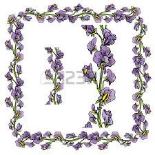 set of ornaments decorative floral border and frame with sweet