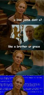 Cersei Lannister Meme - cersei can t compute brienne s words game of thrones game of