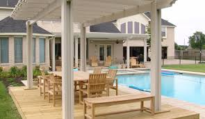 pergola aments comfortable house with swimming pool design best