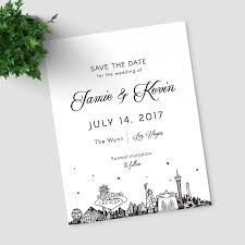 Save The Date Samples Las Vegas Skyline Save The Date Sample Only Vegas Strip Wedding