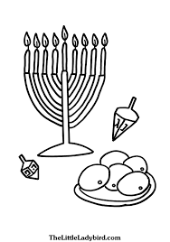 free hanukkah coloring pages thelittleladybird com