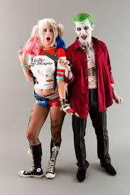 deguisement de couple halloween become the joker harley quinn from squad for halloween