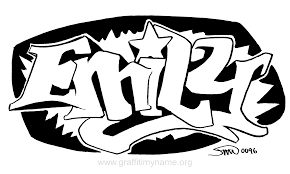 emily graffiti name coloring page coloring home