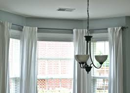 how to hang curtains decor great beloved how to hang net curtains on bay window