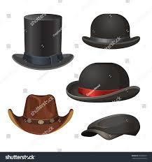 men set hat men set isolated on white stock vector 659008510