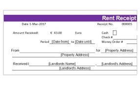 download free rent receipt templates in word u0026 pdf bill format