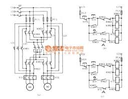 two motors starting circuit with autotransformer circuit diagram world