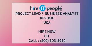 sle resume for business analyst role in sdlc phases system project lead business analyst resume hire it people we get