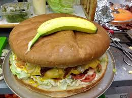 Banana For Scale Meme - a 10lb hamburger from blondie s in winnipeg banana for scale pics