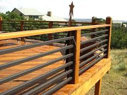Ideas For Deck Handrail Designs Deck Handrails Ideas Traditional Horizontal Deck Railing Kit With
