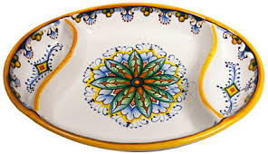 ceramic serving platters ceramic maiolica oval antipasto serving tray dish 26cm