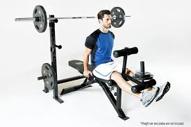 amazon com marcy adjustable olympic exercise bench with squat