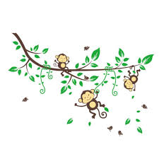 popular wall stickers baby room buy cheap monkey wall sticker baby room decorations animals tree home pvc decal bedroom mural arts