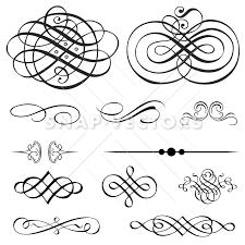 vector clipart ornament and flourish set snap vectors