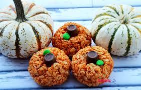 Rice Crispy Treat Pumpkins Rice Krispie Pumpkin Treats Recipe Cleverly Me South Florida