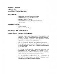 Project Manager Resume Samples Assistant Project Manager Resume Sample Resume For Your Job