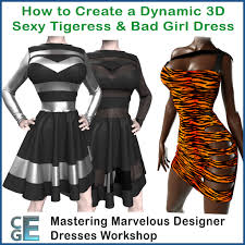 3d bad designer md142 3d tigress bad marvelous designer dresses