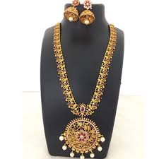 gold jewellery necklace sets images 1 gram gold jewellery necklace set latest design uppadasarees in jpg