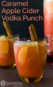 check out caramel apple cider vodka punch it u0027s so easy to make