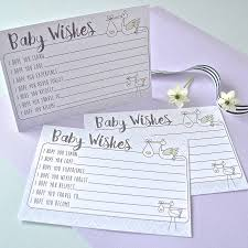 wishes for baby cards stork baby wishes baby shower cards set of 10 by rock paper
