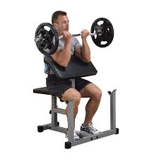 weight bench with preacher curl bench decoration