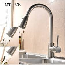 pull out kitchen faucet mttuzk pull out kitchen faucet 360 rotating chrome silver black