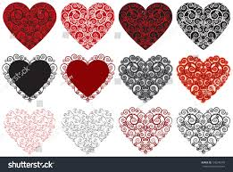 you it you buy it s day heart hearts collection 12 ornate hearts stock vector