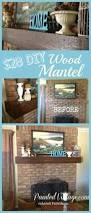diy wood mantel painted vintage