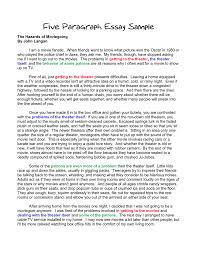 Five Paragraph Essay Outline Example To Write A Five Paragraph Essay Outline