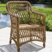 Vinyl Wicker Patio Furniture - everglades honey resin wicker patio dining chair by lakeview