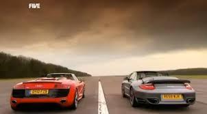 vs porsche 911 turbo fifth gear pits audi r8 spyder vs porsche 911 turbo cabriolet