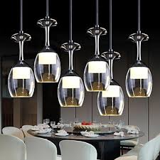 Wine Glass Pendant Light 3wx6 Led Cup Wineglass Modern Led Pendant Light L With 6 Lights