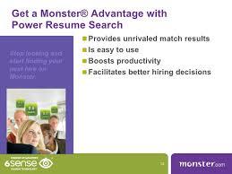 posting resume on monster monster com power resume search