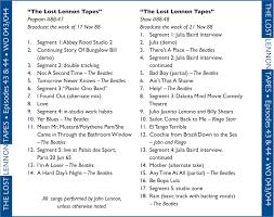 john lennon lost lennon tapes broadcast show 25 49