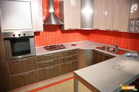 Red Kitchen Backsplash Tiles Orange Backsplash Tile Home Design Ideas