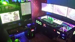 computer pc desk mod modification setup gaming computer rig inside