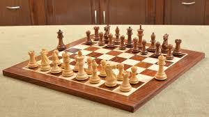 buy wooden chess set in ebony wood sheesham online