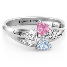 engagement rings with birthstones personalized jewelry mothers rings infinity rings birthstone