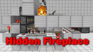 minecraft hidden tileable fireplace showcase youtube