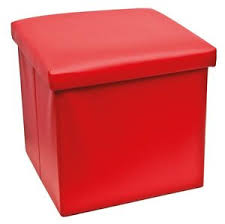 40 X 40 Storage Ottoman Faux Leather Ottoman Storage Box Stool Cube Seat Padded 40 X