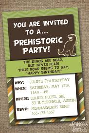 Invitation Card 7th Birthday Boy 102 Best Dinosaur Invitations Images On Pinterest Dinosaur